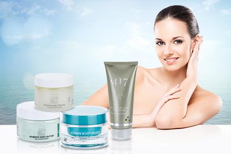 cosméticos do Mar Morto