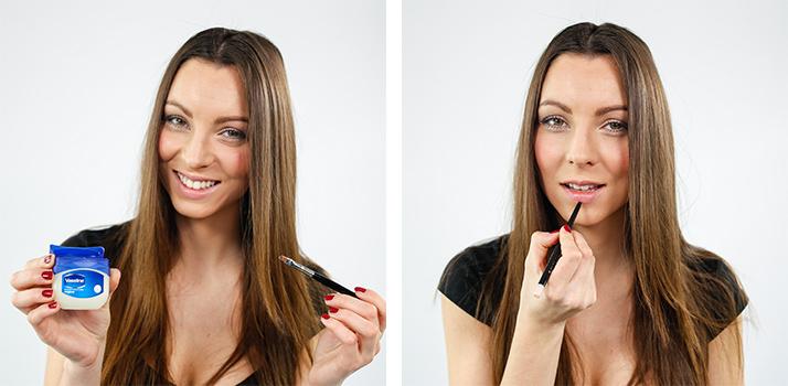 maquilhagem dos lábios