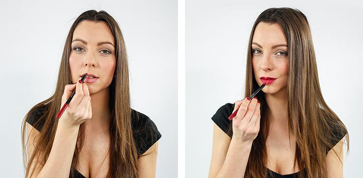 Contorno dos lábios