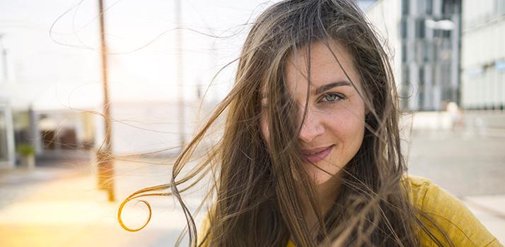 cabelos danificados pelo sol