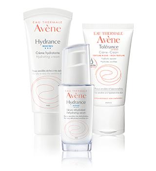Avène produtos para hidratação da pele sensível e hipersensível